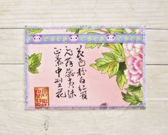 Greeting card postcard birthday card textile pigs by poppyshome