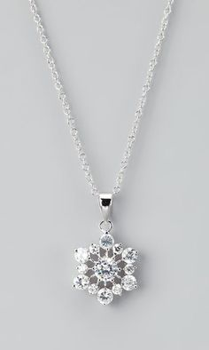 Silver Sparkler Snowflake Pendant Necklace
