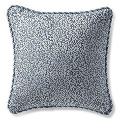 Melita Cay Chambray Outdoor Pillow - Frontgate
