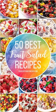 50 Best Fruit Salad Recipes Try one of these fresh and easy fruit salad recipes. From creamy fruit salads to healthy fruit salads, there are plenty of summer recipes to choose from. Whether you are looking for fruit salads for… Continue Reading → Creamy Fruit Salads, Best Fruit Salad, Dressing For Fruit Salad, Fruit Fruit, Fruit Seeds, Summer Fruit Salads, Salads For Lunch, Fruit Slime, Dried Fruit
