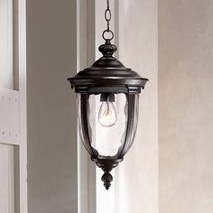 Bellagio High Texturized Black Outdoor Hanging Light - Quick Look Hanging Lantern Lights, Lantern Light Fixture, Outdoor Ceiling Lights, Outdoor Hanging Lanterns, Outdoor Light Fixtures, Outdoor Wall Lighting, Outdoor Walls, Wall Lights, Exterior Lighting