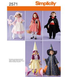 Simplicity Pattern 2571-Crafts Costumes-Sz 1/2-4, , hi-res