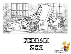 Coloring Buddy Mike Recommends Ferrari ZXX Side View Printable Picture At YesColoringSlide Crayon
