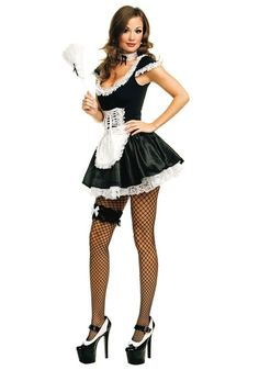 Womens French Maid Costume