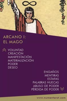 NUMEN TAROT | Arcano I: El Mago Tarot Significado, Oracle Tarot, Tarot Card Meanings, Tarot Cards, Wicca, Witchcraft, Meant To Be, Reading, Memes