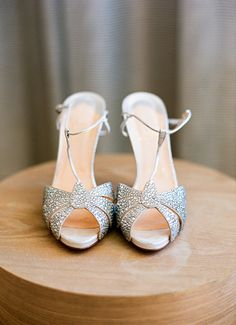Sparkly peep-toe t-strap Christian Louboutin shoes. Image 21d04017bdd