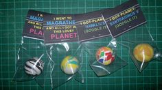 Hitchhikers Guide to the Galaxy Party Bag Planets - see other pin for printable labels