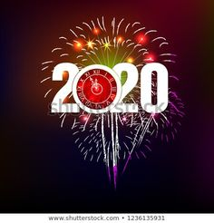 Happy New Year 2020 background with fireworks. New Year Wishes, New Year Greetings, Happy New Year Gif, Nouvel An, Merry Christmas And Happy New Year, Christmas Wallpaper, New Years Eve, Fireworks, Halloween