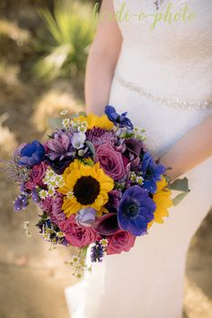 Sunflowers, pinks and purples. Pink Flower Bouquet, Pink Flowers, Flowers For You, San Diego Wedding, Floral Crown, Timeless Design, Sunflowers, Unique Weddings, Wedding Flowers