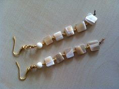 Ivory earrings. by dodimatto on Etsy
