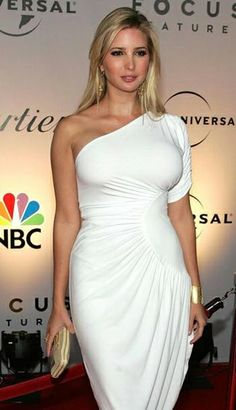 Ivanka Trump in One Shoulder D. is listed (or ranked) 8 on the list Hottest Ivanka Trump Photos Ivanka Trump Height, Ivanka Marie Trump, Ivanka Trump Photos, Ivanka Trump Style, Ivanka Trump Body, Ivanka Trump Dress, Girls Party Dress, Girls Dresses, Half Up Half Down Hair Prom