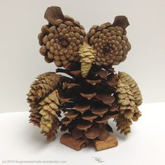 Potpourri Pine Cone Owl - Created by Tanya Green