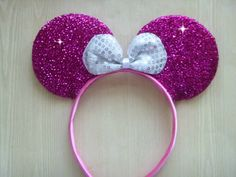 Hey, I found this really awesome Etsy listing at https://www.etsy.com/listing/181010628/minnie-mouse-ears-headband-hot-pink