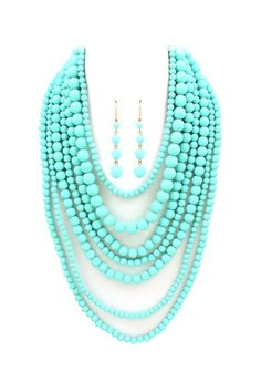 Turquoise Elizabeth Necklace Set | Emma Stine Jewelry Necklaces  via Shopmine, get product recommendations based on people you follow!