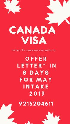 Apply Now, with Networth Overseas Consultants for the For very limited time for queries: 9215204611 Overseas Education, Letter I, Tour Operator, Nova Scotia, Study Abroad, How To Apply, Quebec, Ontario