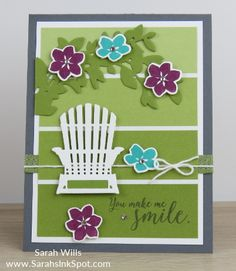 Welcome to the Color Fusers Blog Hop for June 2017! – Sarahs Ink Spot Paint Chip Cards, Stampin Up Catalog 2017, Retirement Cards, Beach Cards, Season Colors, Handmade Birthday Cards, Card Patterns, Die Cut Cards, Color Theory