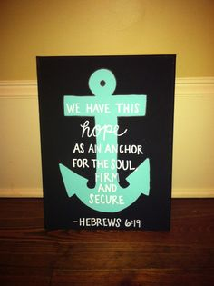 Anchor canvas DIY wall art with saying. Description from pinterest.com. I searched for this on bing.com/images