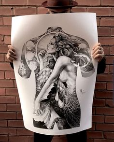 This Mortal Coil Merchandise T-shirts and Tattoo Illustration, Weird Tattoos, Tattoo Designs For Girls, Back Tattoos For Guys, Japanese Girl Tattoo, Tribal Band Tattoo, Crow Tattoo Design, Thai Art, Tattoos Gallery