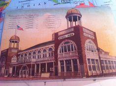 Entrance to Steel Pier Atlantic City NJ 1910 Postcard