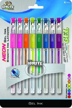 Write Dudes Neon Fashion Gel Pens, Assorted Colors, 8-Pack (14637) Write Dudes,http://www.amazon.com/dp/B005B5LX32/ref=cm_sw_r_pi_dp_7pdCtb147DXR9N8H