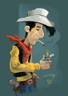 Lucky Luke Art by Ivan Berov