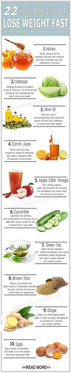 22 DIY Home Remedies for Weight Loss !! chicparlour.com #skincaretips…