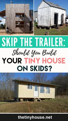 When they think of tiny houses, most people think of tiny houses on wheels. These portable homes have become the symbol of the tiny house movement. Tiny House Family, Small Tiny House, Tiny House Living, Tiny House Design, Small Homes, Building A Tiny House, Tiny House Plans, Small Houses On Wheels, Tiny Houses