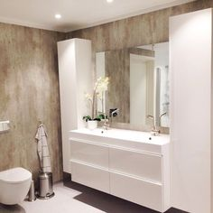 Bathroom ikea godmorgon shelves 44 ideas for 2019 Bathroom Design Inspiration, Bathroom Interior Design, Interior Design Living Room, Ikea Bathroom Vanity, Bathroom Renovation Cost, Amazing Bathrooms, Home Decor, Condo Bathroom, Laundry Room