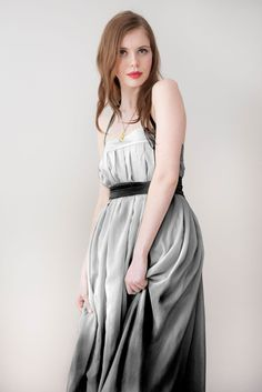 Long Skirt Maxi Skirt 'Lily skirt in Silver Grey' by Archella, via Etsy.