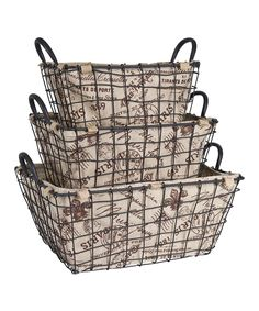 Home Essentials And Beyond Rectangular Postage Storage Basket Set