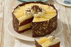 Schauen Sie sich diese Torte genau an: Der kunstvolle Schokorand gibt diesem Klassiker unter den Torten ein Update. (vegan cheesecake cupcakes)