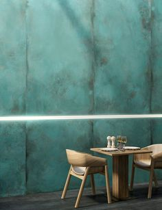 Our Verdigris Porcelain tiles replicate the blue green patina formed on copper by oxidation. View this & more porcelain tiles & flooring at Mandarin Stone - buy online or order a sample. Mandarin Stone, Large Format Tile, Colorful Throw Pillows, Interior Design Work, Bistro Interior, Glazed Tiles, Bathroom Tile Designs, Modern Bathroom, Wall And Floor Tiles