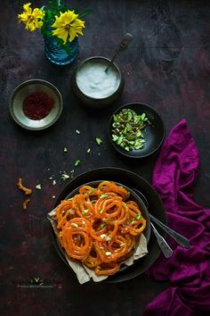 Jalebi is typically served as a 'celebration sweet'. Jalebi has crispy, juicy texture. In the form of dessert, Jalebi is served with malai, yogurt or rabri