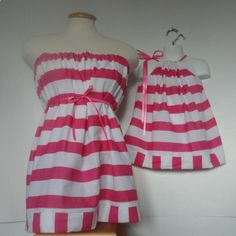 Not a tutorial but I could totally do this. Mommy and Me Matching Eco Fashion. Mother Daughter Clothing. Mommy and Me Matching. Pillowcase Dress and Tunic Tube Top. Eco Fashion