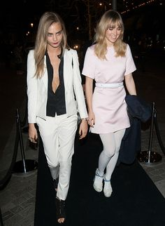 Cara Delevingne, Suki Waterhouse And More Famous Faces Celebrate The Launch Of Karl Lagerfeld Store In London.  (2014)