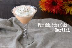 Pumpkin Spice Cake Martini, the BEST fall cocktail recipe! Easy pumpkin martini to make with vodka & pumpkin liqueur. Perfect for Thanksgiving or Halloween.