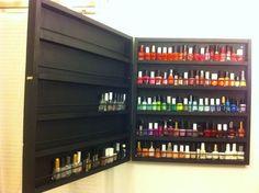 custom shelf - nail polish storage