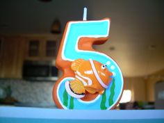 Finding Nemo Birthday Candle by SweetLilPeaches on Etsy