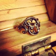 Sterling Silver Vintage Spoon Ring with by HookesStationArtisan, $27.50