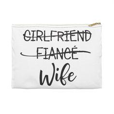 GIRLFRIEND FIANCE WIFE Pouch/Pochette | Etsy Girlfriends, Pouch, Etsy, Travel Bags, Sachets, Porch, Belly Pouch, Boyfriends, Girls