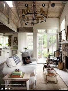 Rustic Living rom - country style