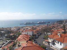 Madeira, Blick aus der Seilbahn Funchal, Februar 2015