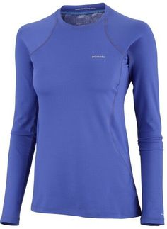 Womens Blue Columbia Omni Heat Longsleeve Shirt (Large)  fashion  clothing   shoes cb57c4475