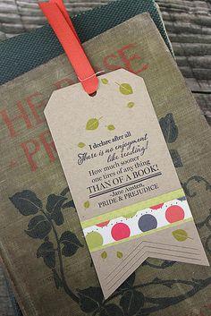 Fall Jane Austen Bookmark