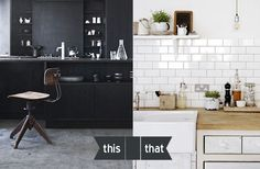 Love to wear black more than white but with home decor white makes your place bigger & spacious Best Interior, Interior Design, Double Vanity, Beautiful Homes, Kitchen Ideas, House, Inspiration, Home Decor, Black