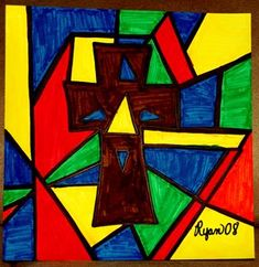 Check out student artwork posted to Artsonia from the First Communion Stained Glass project gallery at St. Catholic School, Stained Glass Projects, First Holy Communion, Art Lesson Plans, Art Portfolio, Art Museum, Art For Kids, Art Projects, Religion