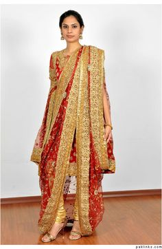 Such a pretty design! When I wear a khada dupatta, I want the shirt to be ankle length and long sleeves that are fitted
