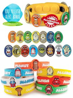If my child were to ever have allergies I would definitely get them one of these cool allergy bracelets! I would feel better about them going over to friends houses and off to school!