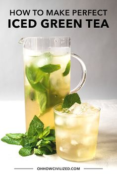 There are two essential things that makes the best iced green tea and it'll completely change the way you make iced tea! Get my tips to make perfect iced tea. Cold Green Tea, Green Tea Drinks, Best Green Tea, Summer Drinks, Iced Green Teas, Green Tea Smoothie, Green Tea Recipes, Iced Tea Recipes, Ice Green Tea Recipe