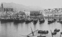 Puerto de Málaga año 1880